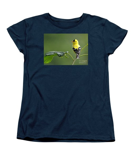 Women's T-Shirt (Standard Cut) featuring the photograph Yellow Finch by Nava Thompson