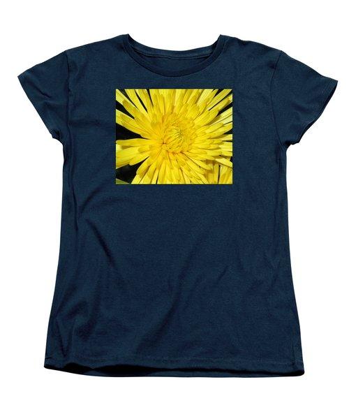 Yellow Flower Closeup Women's T-Shirt (Standard Cut) by Barbara Yearty