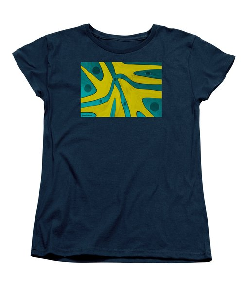 Yellow People Women's T-Shirt (Standard Cut) by Sir Josef - Social Critic -  Maha Art