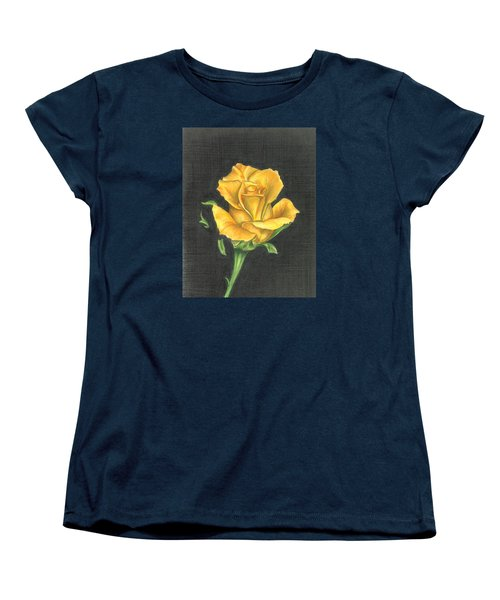 Yellow Rose Women's T-Shirt (Standard Cut) by Troy Levesque
