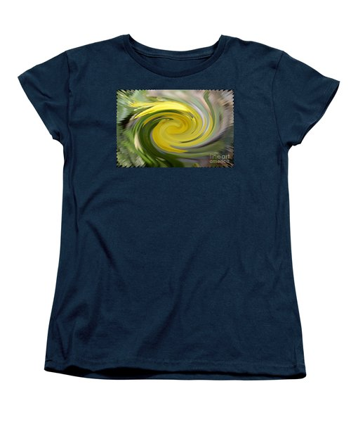 Women's T-Shirt (Standard Cut) featuring the digital art Yellow Whirlpool by Luther Fine Art