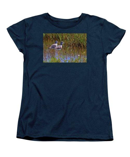 Women's T-Shirt (Standard Cut) featuring the photograph Yellowlegs Of Texas by Gary Holmes