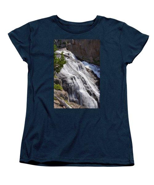 Yellowstone Gibbon Falls Women's T-Shirt (Standard Cut) by Jennifer White