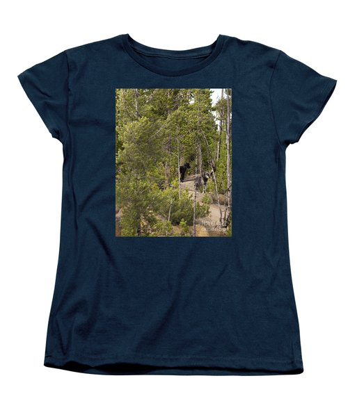 Yellowstone Wolves Women's T-Shirt (Standard Cut) by Belinda Greb