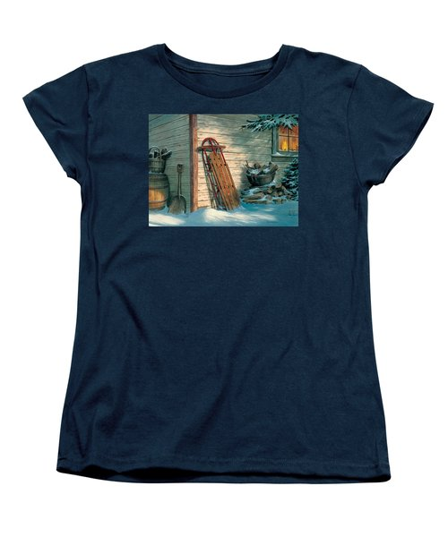 Women's T-Shirt (Standard Cut) featuring the painting Yesterday's Champioin by Michael Humphries