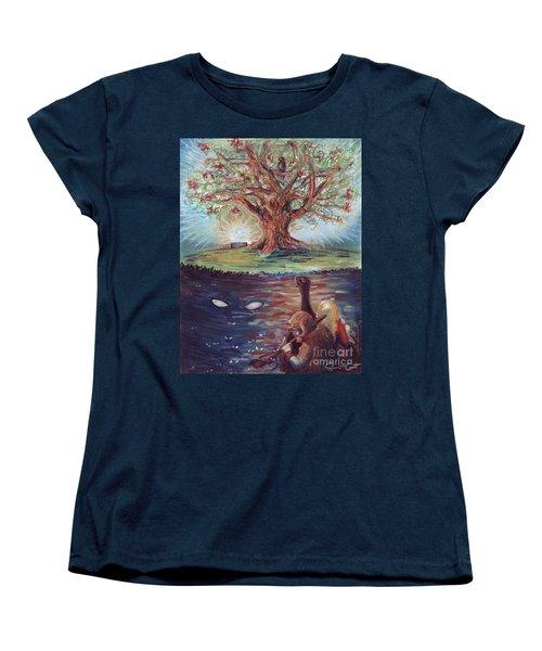 Yggdrasil - The Last Refuge Women's T-Shirt (Standard Cut) by Samantha Geernaert
