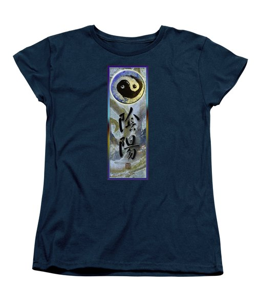 Yinyang Brush Calligraphy With Symbol Women's T-Shirt (Standard Cut) by Peter v Quenter