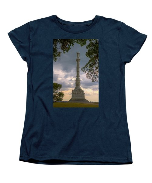 Yorktown Victory Monument Women's T-Shirt (Standard Cut) by Jerry Gammon