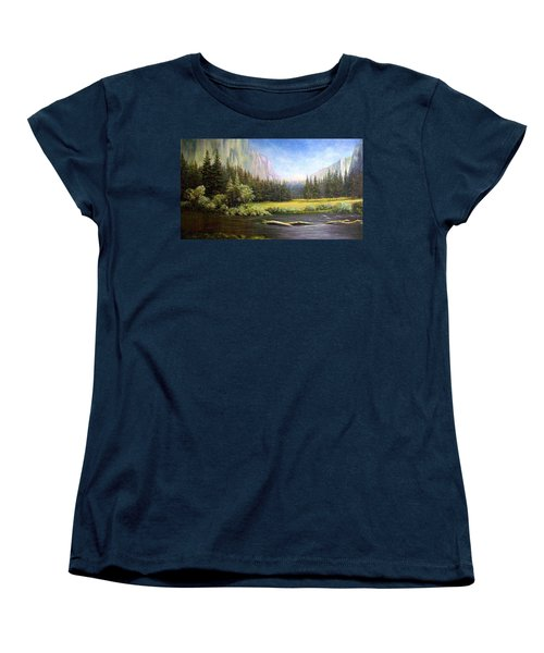 Women's T-Shirt (Standard Cut) featuring the painting Yosemite by Loxi Sibley