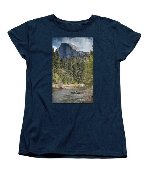 Yosemite National Park. Half Dome Women's T-Shirt (Standard Cut) by Juli Scalzi