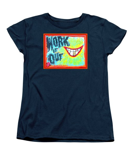Women's T-Shirt (Standard Cut) featuring the painting You Better Work It Out by Lisa Piper