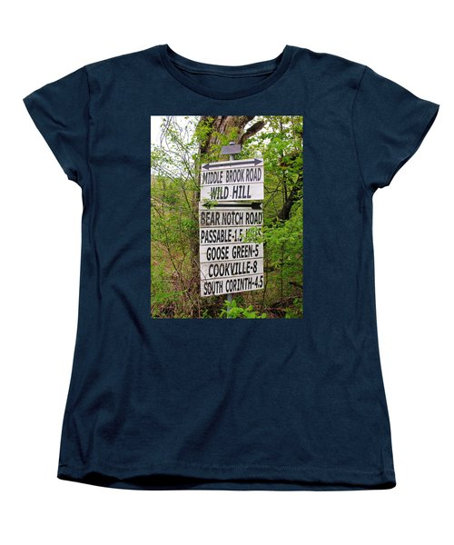 Women's T-Shirt (Standard Cut) featuring the photograph You Can Get There From Here by Sherman Perry