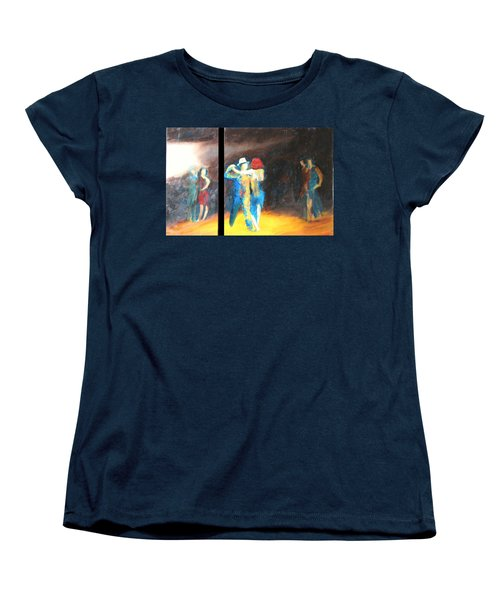 Women's T-Shirt (Standard Cut) featuring the painting You Shine  Diptych by Keith Thue