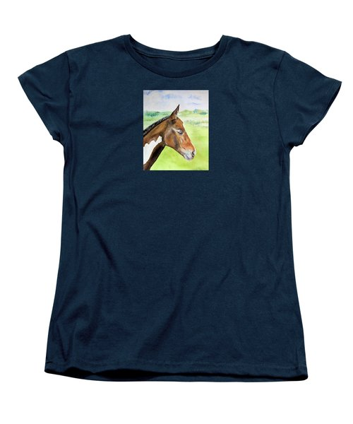 Women's T-Shirt (Standard Cut) featuring the painting Young Cob by Elizabeth Lock