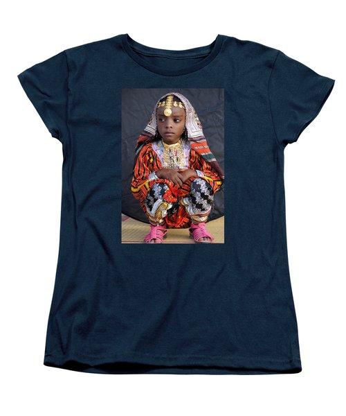 Young Omani Girl Women's T-Shirt (Standard Cut) by Debi Demetrion