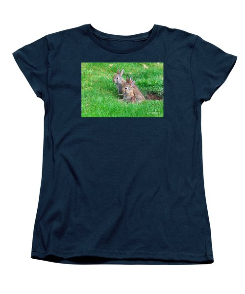Young Rabbits Women's T-Shirt (Standard Cut) by Nick  Biemans