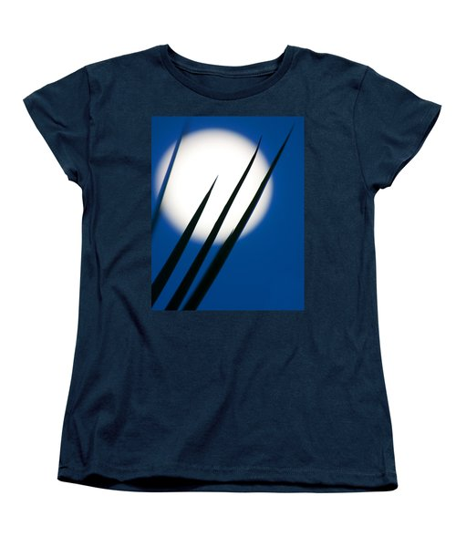 Women's T-Shirt (Standard Cut) featuring the photograph Yucca Moon by Jim Garrison