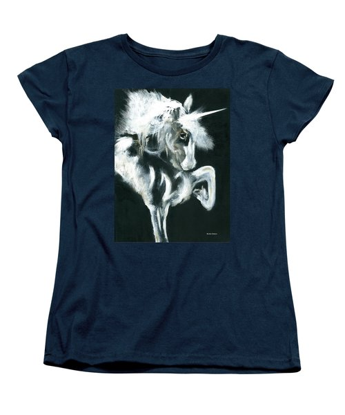 Women's T-Shirt (Standard Cut) featuring the painting Unicorn by Barbie Batson
