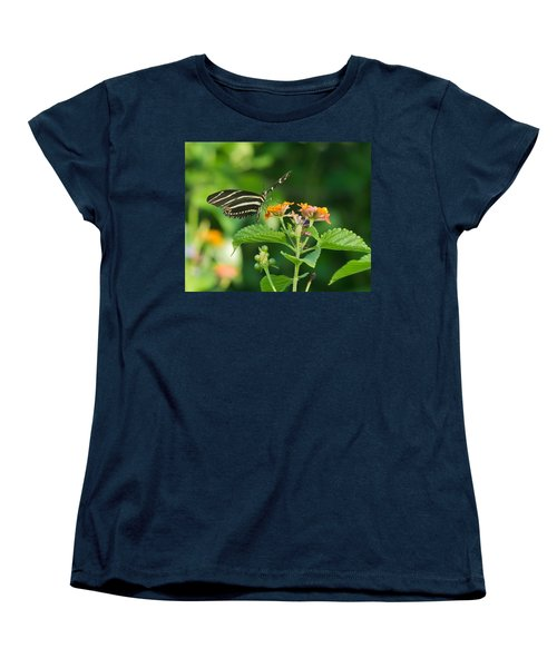 Women's T-Shirt (Standard Cut) featuring the photograph Zebra Longwing by Jane Luxton