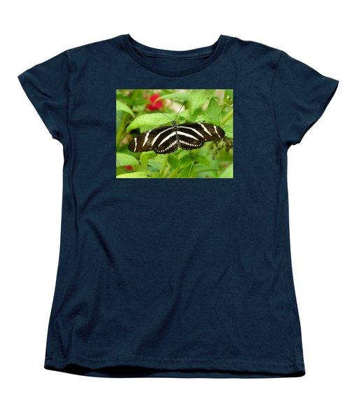 Zebra Longwing Women's T-Shirt (Standard Cut) by Judy Wanamaker