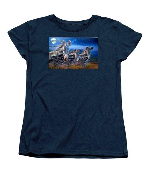 Zebras Women's T-Shirt (Standard Cut) by Hans Droog