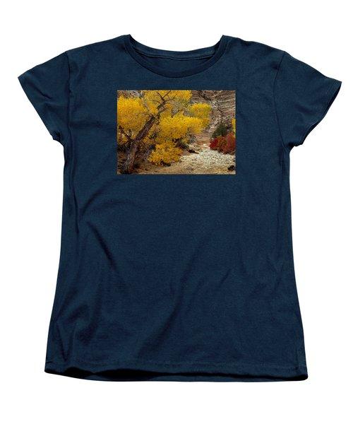 Zion National Park Autumn Women's T-Shirt (Standard Cut) by Leland D Howard