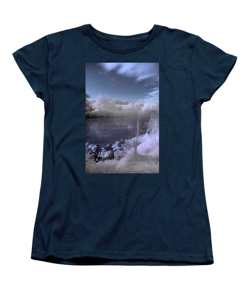 Women's T-Shirt (Standard Cut) featuring the photograph  Infrared Pond by Beverly Cash