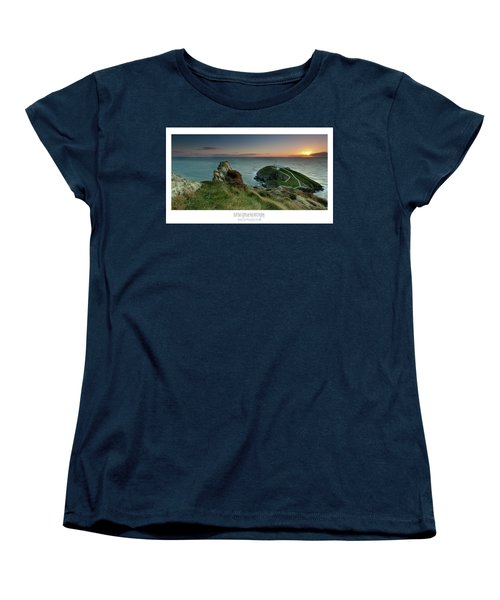 Women's T-Shirt (Standard Cut) featuring the photograph  Sunset At South Stack Lighthouse by Beverly Cash