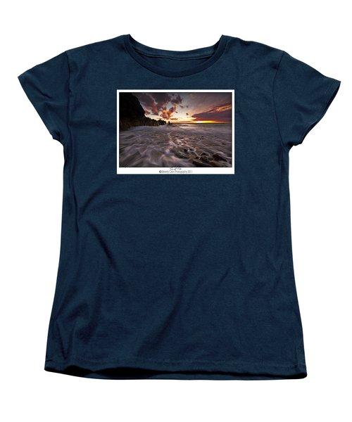 Sunset Tides - Porth Swtan Women's T-Shirt (Standard Cut) by Beverly Cash