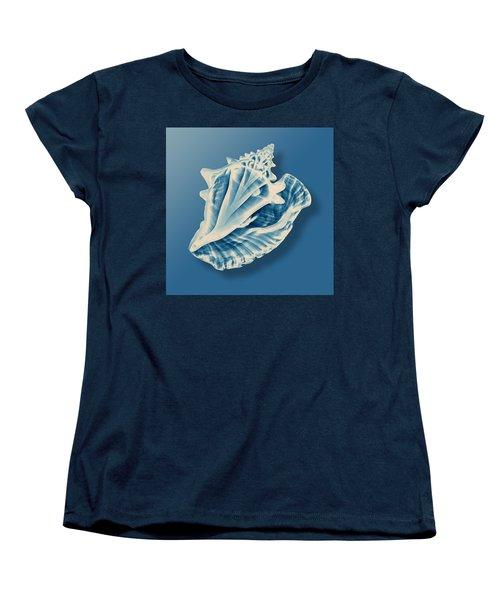 X-ray Of A Conch Shell Women's T-Shirt (Standard Cut) by Mark Greenberg