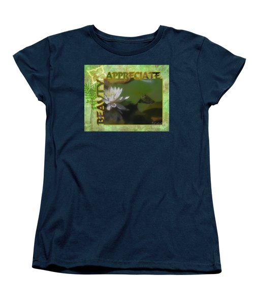 Appreciating Beauty Women's T-Shirt (Standard Cut) by Smilin Eyes  Treasures