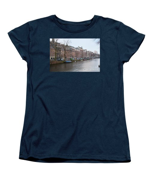 City Scenes From Amsterdam Women's T-Shirt (Standard Cut) by Carol Ailles