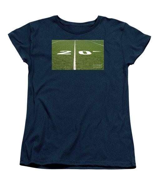 Women's T-Shirt (Standard Cut) featuring the photograph Football Field Twenty by Henrik Lehnerer