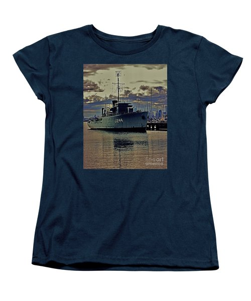 Women's T-Shirt (Standard Cut) featuring the photograph Hmas Castlemaine 3 by Blair Stuart