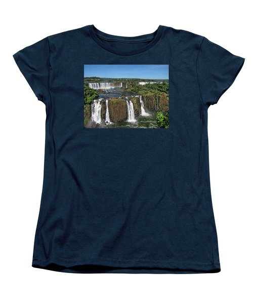 Iguazu Falls Women's T-Shirt (Standard Cut) by David Gleeson