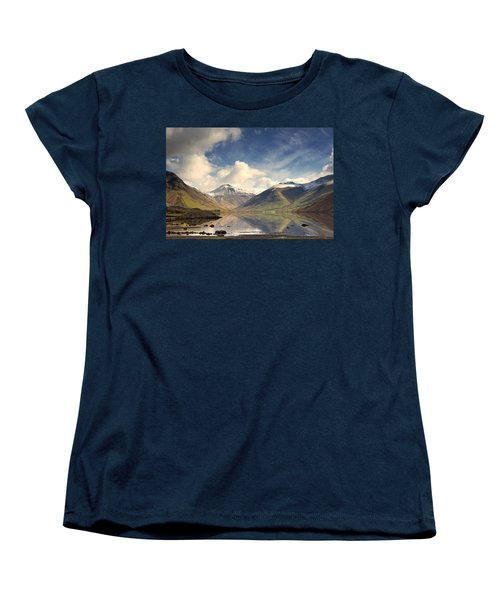 Women's T-Shirt (Standard Cut) featuring the photograph Mountains And Lake At Lake District by John Short
