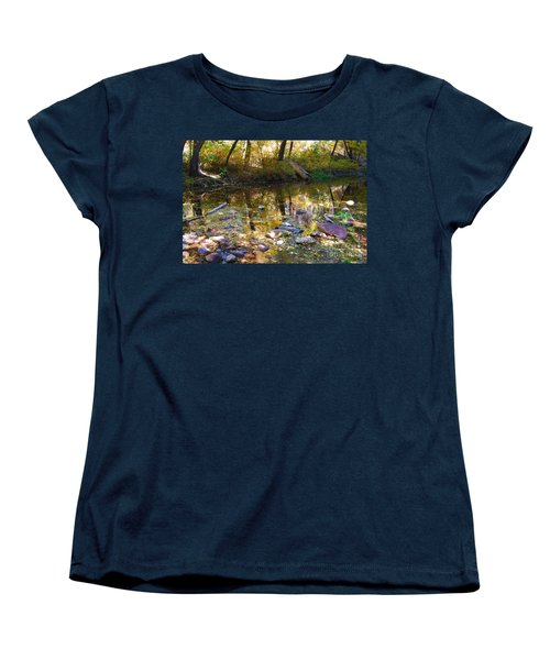 Women's T-Shirt (Standard Cut) featuring the photograph Oak Creek Reflection by Tam Ryan