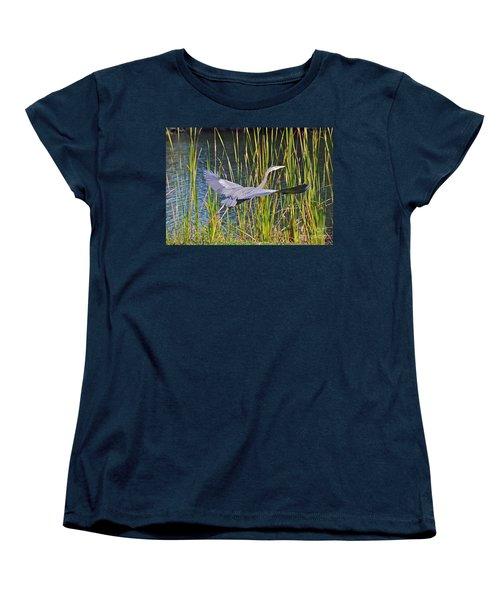 Taking Off Women's T-Shirt (Standard Cut) by Carol  Bradley