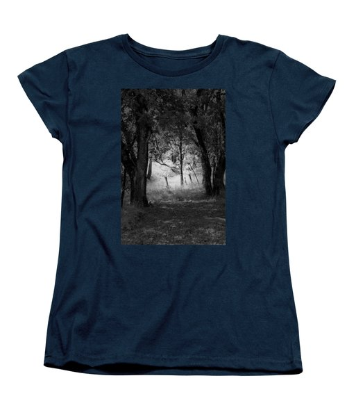 Through The Trees  Women's T-Shirt (Standard Cut) by Kathleen Grace