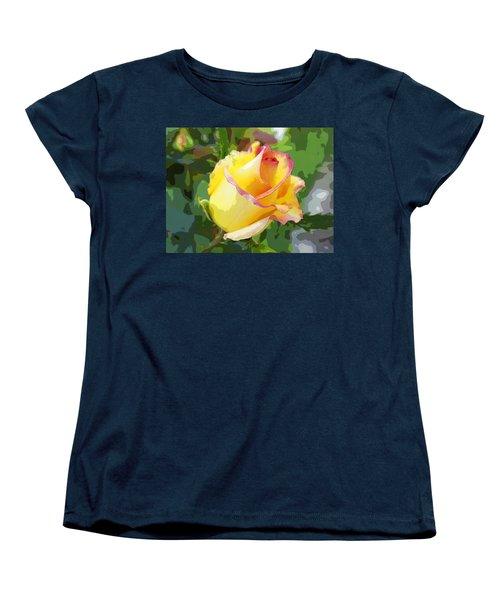 Yellow Rose Women's T-Shirt (Standard Cut) by Anne Mott