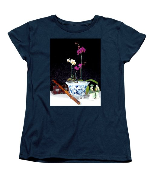 Women's T-Shirt (Standard Cut) featuring the photograph Rendezvous by Elf Evans