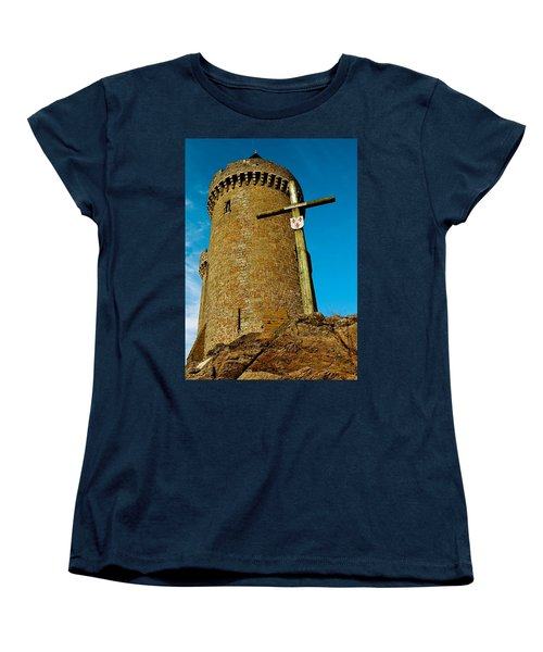 Women's T-Shirt (Standard Cut) featuring the photograph Solidor And Cross by Elf Evans