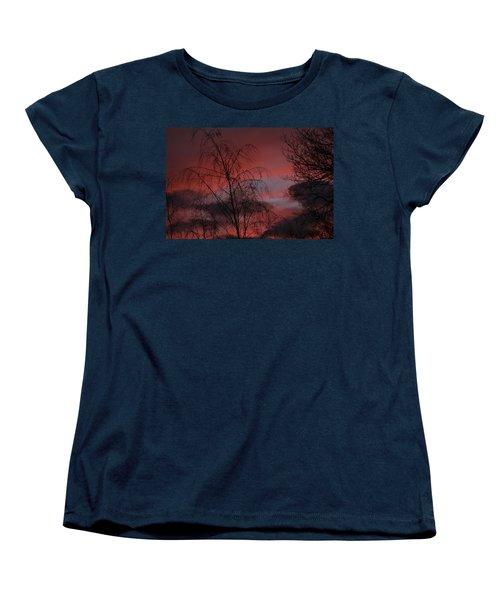 Women's T-Shirt (Standard Cut) featuring the photograph 2011 Sunset 1 by Paul SEQUENCE Ferguson             sequence dot net