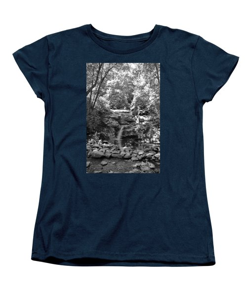 Set Rock Creek Falls Women's T-Shirt (Standard Cut) by Joel Deutsch