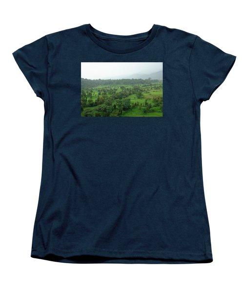 A Beautiful Green Countryside Women's T-Shirt (Standard Cut) by Ashish Agarwal