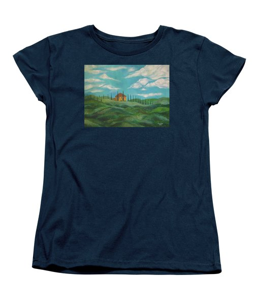 A Day In Tuscany Women's T-Shirt (Standard Cut) by John Keaton