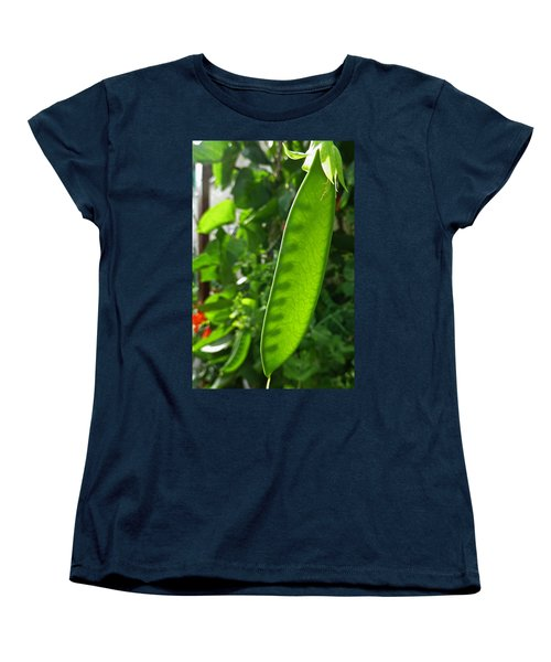 Women's T-Shirt (Standard Cut) featuring the photograph A Green Womb by Steve Taylor