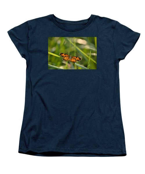 Women's T-Shirt (Standard Cut) featuring the photograph A Pearl In The Grass by JD Grimes