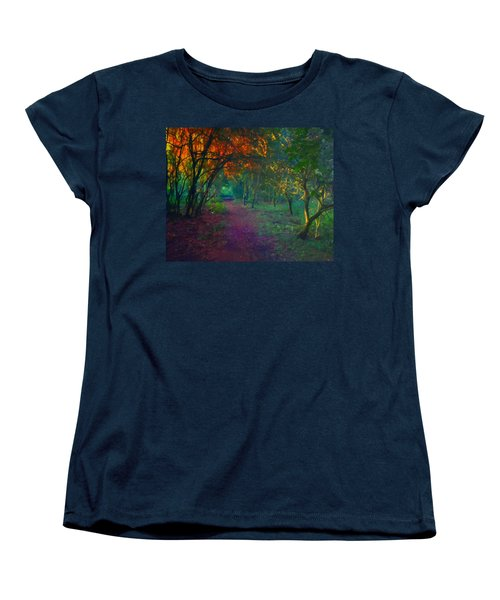 Women's T-Shirt (Standard Cut) featuring the painting A Place Of Mystery by Joe Misrasi