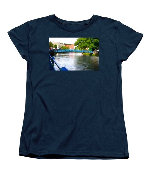 Women's T-Shirt (Standard Cut) featuring the photograph A River Runs Through It by Charlie and Norma Brock